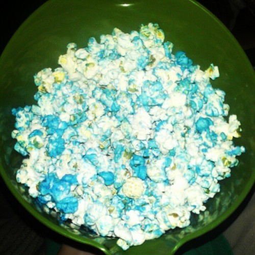 blue popcorn (Taken with Instagram)