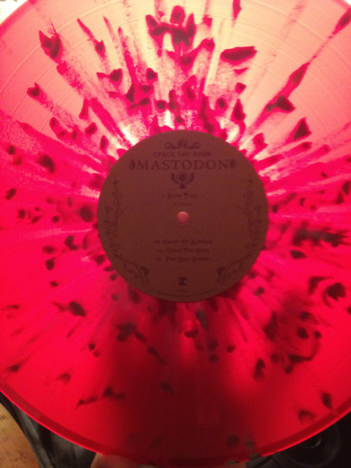 "Mastodon's ""Crack the Skye"" red vinyl with speckles. WIN"