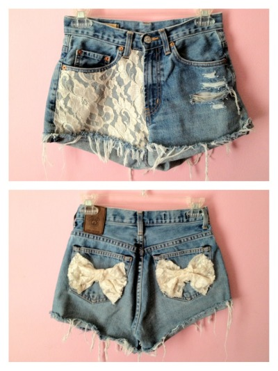 fashionoverhype:  I made these shorts, if you want your own customized pair follow my instagram (: @_alinah