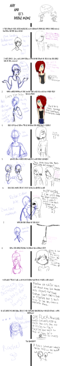 Me and Petals did a double OC meme with my character Zane and her character Vanessa. It was tons of fun! I don't know if the pixel quality is working very well so I'll probably put it on my DA too.