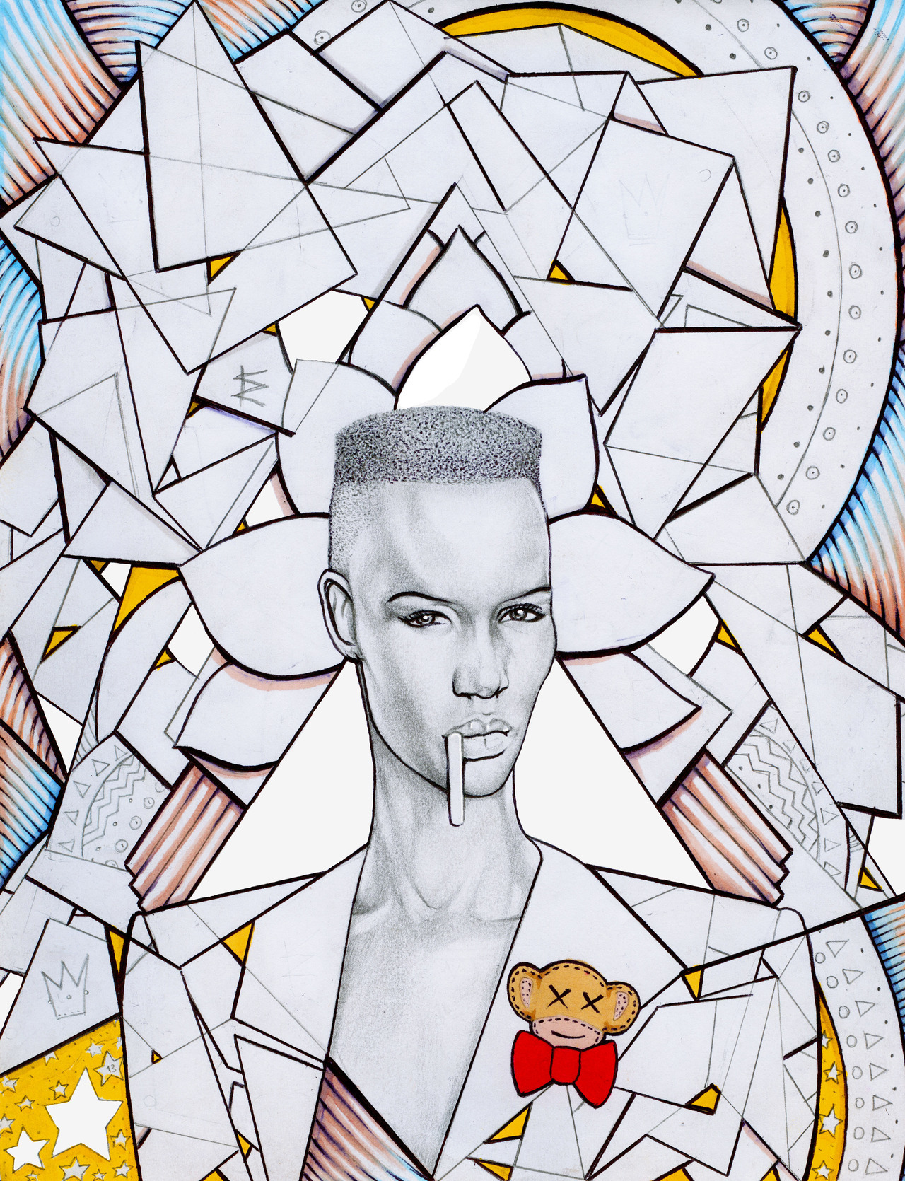 jerrywolfillustrates:  Jerry Wolf X Monkey Jam X Grace Jones