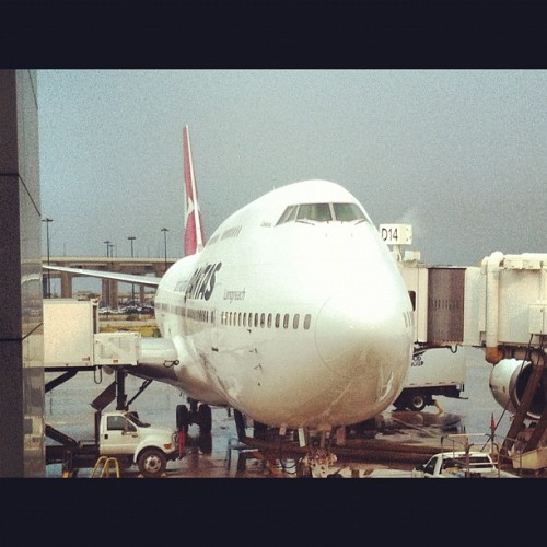 1.5 hours till I finally get to board this thing. #impatience #qantas #australia #sydney #hillsongcollege  (Taken with Instagram)