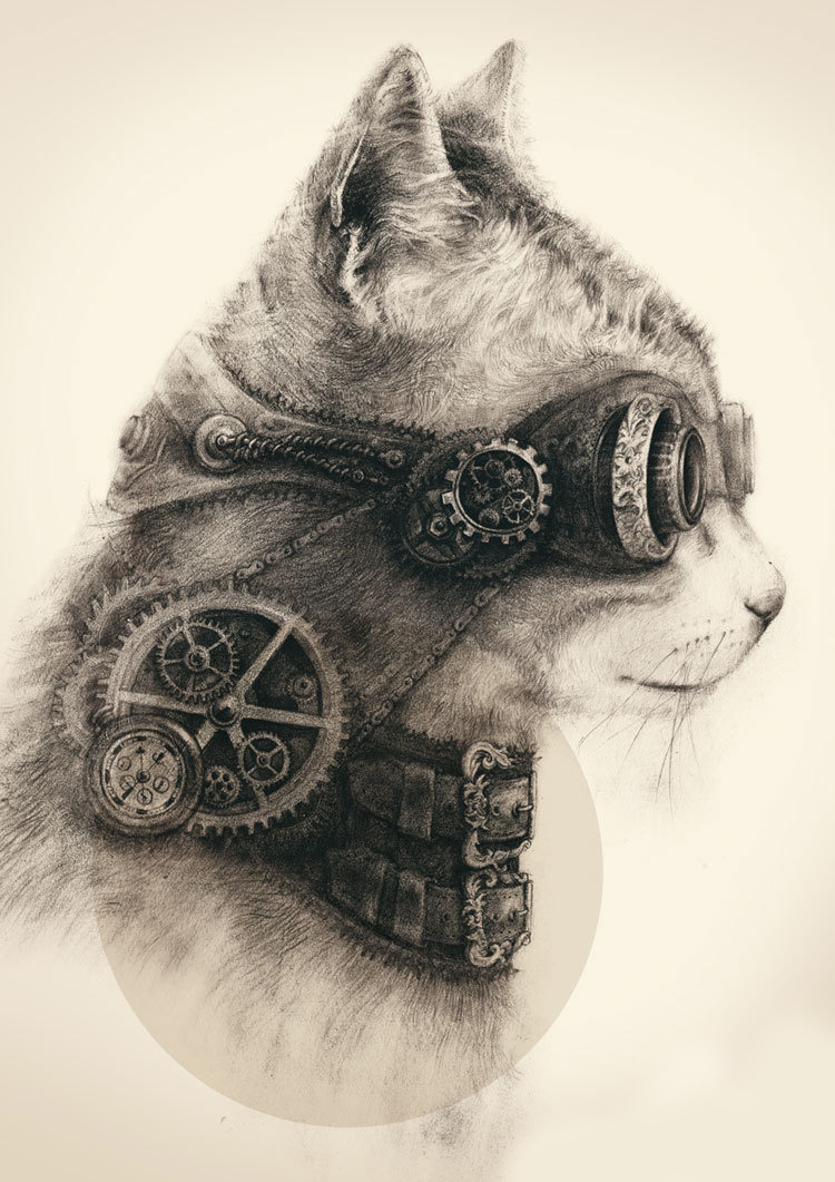 gaksdesigns:  Steampunk Kitty  ♥ ♥ ♥ ♥