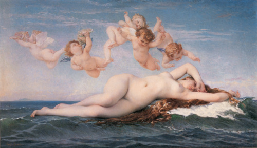 "composition-improvisation:  Alexandre Cabanel, The Birth of Venus, c. 1863 ""This Venus hovers somewhere between an ancient deity and a modern dream"" - Robert Rosenblum"