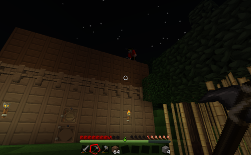 So. He decided the top of my house was the perfect spot for his house. LOL. - Neko