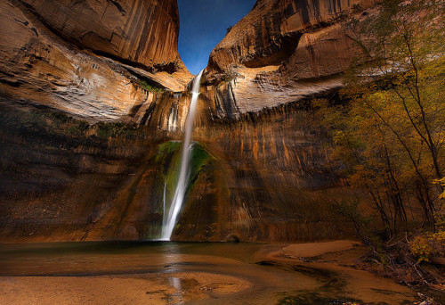 tangledleaves:  Water In a Parched Land- Calf Creek Falls by Trevor Anderson on Flickr.