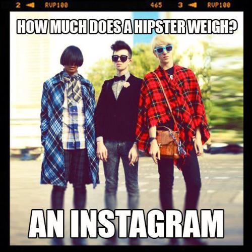Just install Instagram and measure hipsters!