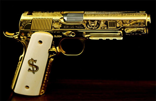 weaponzone:  Gold 1911*No specs*Credit : D&L Sports Inc
