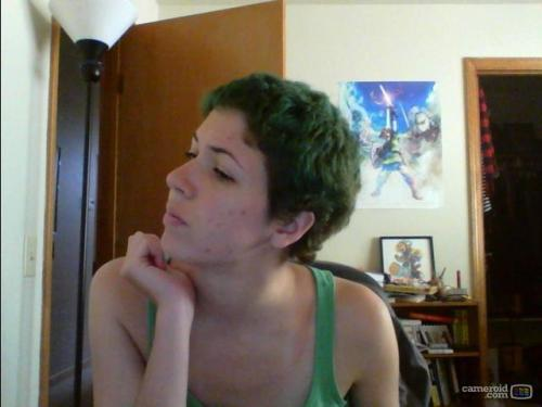 I redyed my hair today because it was gross and looked like this.  also: MY HAIR IS SO FLOOFY NOW, CHRIST.