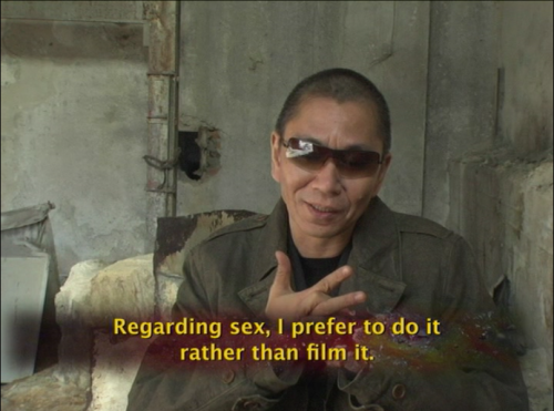 scratchedcorneas:  Takashi Miike on the topic of sex and violence in movies.
