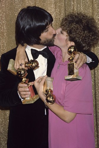 Jon Peters & Barbra Streisand at the 1978 Golden Globe Awards