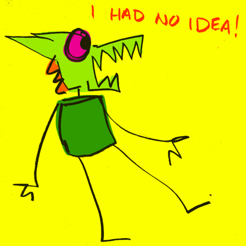 explodingdog:  Crazy Monster is surprised.