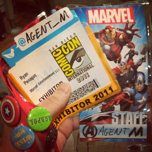 Packing for #SDCC, I found my badges from last Comic-Con in a side pocket. #WiseUp  (Taken with Instagram)