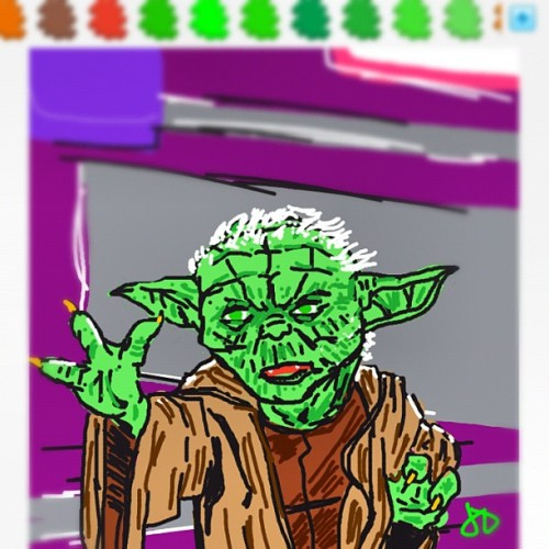 jdavis34:  #drawsomething #yoda #starwars (Taken with Instagram at Master Yoda)