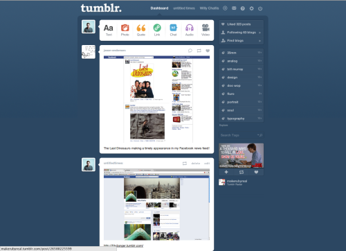 Jason making a appearance on my tumblr feed of a timely appearance on his facebook news feed of last dinosaurs.