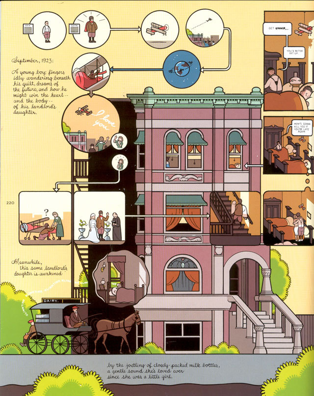 Building Stories, new Chris Ware graphic novel!  Chris Ware is coming out with a new graphic novel called Building Stories, which has appeared in bits and pieces in other places.