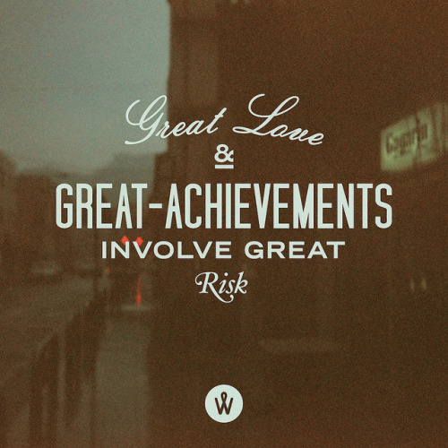 by9:  183 / Great Love And Great Achievements Involve Great Risk by Alander Wong on Flickr.