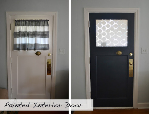 painting an interior door  |  a home in the making