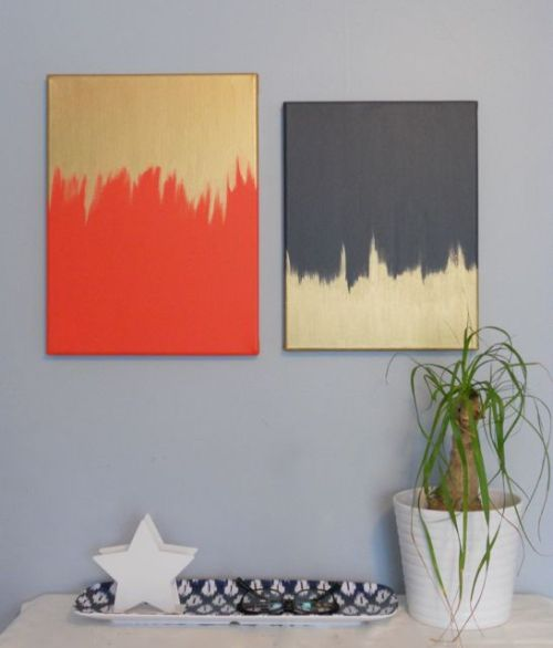DIY diptych paintings  |  110 + 2