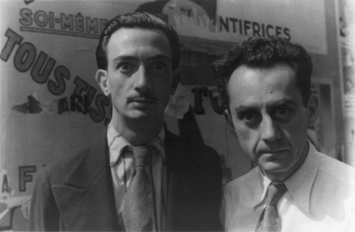 Salvador Dali and Man Ray. Just had my mind blown how well cast Adrien Brody was in Midnight in Paris.