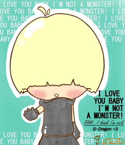 La-La-La-Love G-Dragon! :'D This is what I created when I took a break from studying SAT. Took awhile, but I'm satisfied! :D