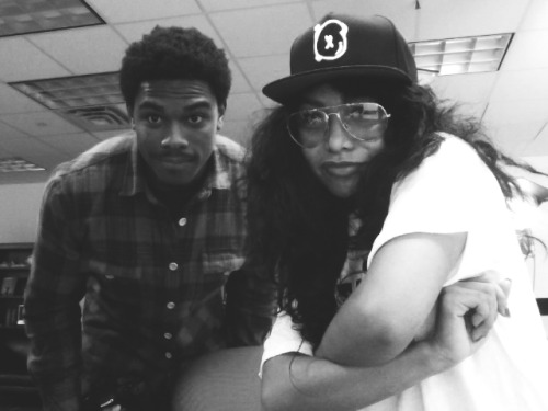 homie flynesseffect:  @inEZgalvez  and I when I was in super saiyan mode.
