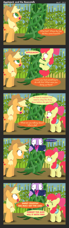 jeweldryn213:  Applejack and the Beanstalk by =dtcx97