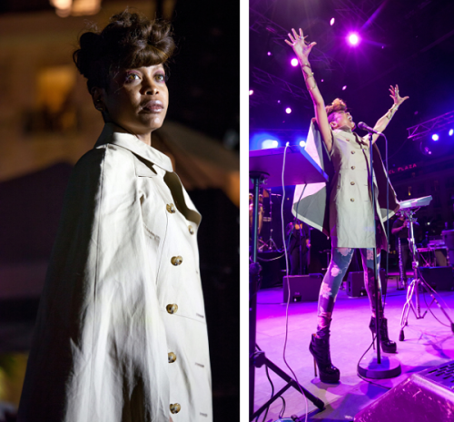 Spotted: Erykah Badu Performs At Festival de Nice 2012 beautiful pics. love her hairstyle