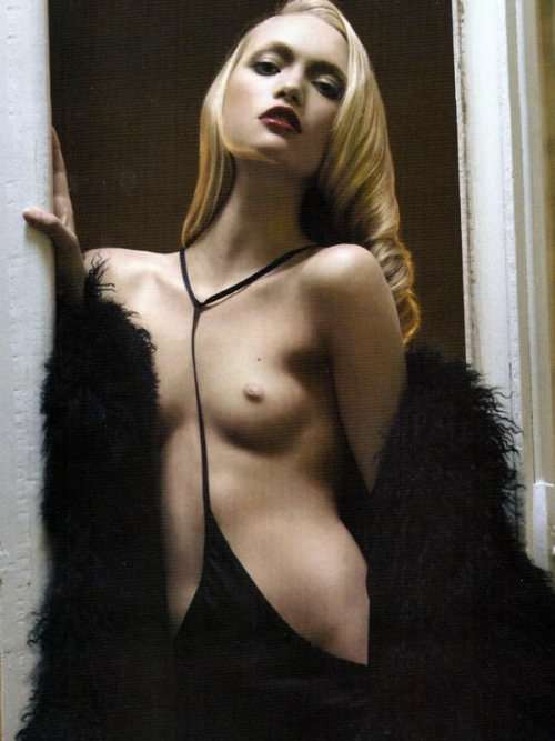Sans Interdits Gemma Ward by Mario Sorrenti for Vogue Paris December 2005/January 2006