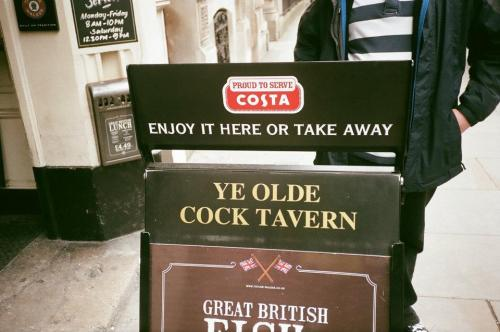 I was in London over the weekend and we went into this pub.  YES I'M IMMATURE. YES I CHUCKLED AND YES I HAD TO TAKE A PHOTO.
