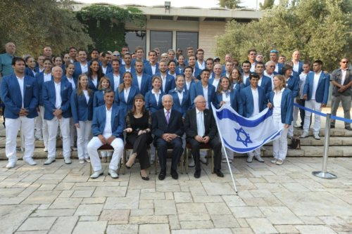 The Israeli delegation to the 2012 Olympics in London!