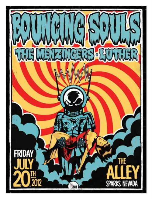 Tour Poster: Bouncing Souls, The Menzingers & Luther @ The Alley 7/20