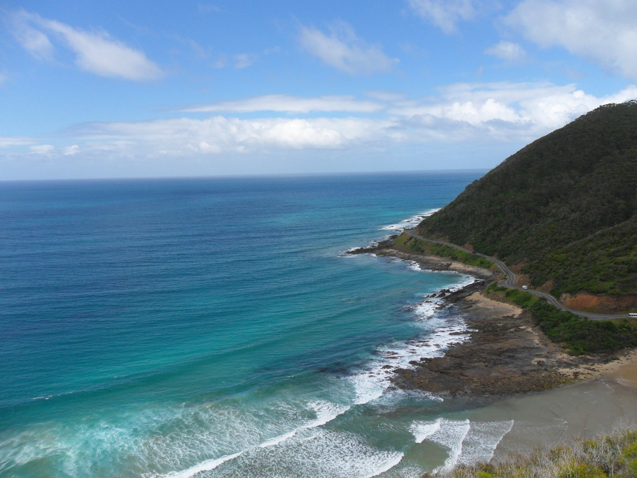 Lookout over the Great Ocean Road in Victoria