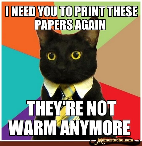 Business Cat: i need you to print these papers again… http://bit.ly/PLjXH8