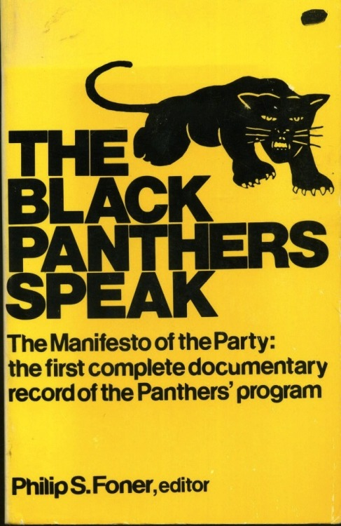 newmanology:  The Black Panthers Speak, paperback book cover (1970)