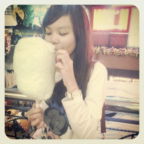 Candy floss ♥ mammam  (Taken with Instagram)