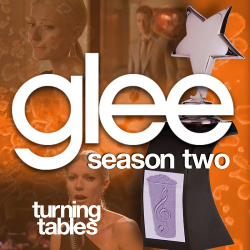 "A Glee album cover (with Season 2 trophy) for ""Turning Tables"" by Adele, as sung by Gwyneth Paltrow, from Episode 2x17 ""A Night of Neglect"" in my Splatter Backdrop style."