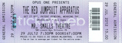 In case you didn't hear, we're opening for The Red Jumpsuit Apparatus at the end of this month!RSVP and learn more at https://www.facebook.com/events/263534027080193/.Get your tickets today by emailing dle1195@yahoo.com or order online at http://wearingtheinsideout.bigcartel.com/product/tix-7-29-mr-smalls-with-red-jumpsuit-apparatus-free-shipping.See you there!-WIO