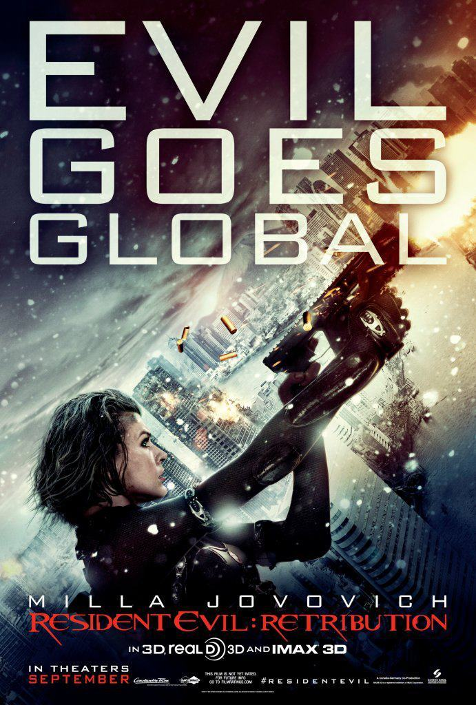 "RESIDENT EVIL: RETRIBUTION (Comic-Con) Director: Paul W.S. Anderson Writer: Paul W.S. Anderson Stars: Milla Jovovich, Sienna Guillory and Michelle Rodriguez Synopsis:  The wildly successful film franchise adaptation that has grossed nearly $700 million worldwide to the popular video game series, ""Resident Evil,"" returns in its highly anticipated fifth installment, ""Re5ident Evil: Retribution"" in state-of-the art 3D. The Umbrella Corporation's deadly T-virus continues to ravage the Earth, transforming the global population into legions of the flesh eating Undead. The human race's last and only hope, Alice (Milla Jovovich), awakens in the heart of Umbrella's most clandestine operations facility and unveils more of her mysterious past as she delves further into the complex. Without a safe haven, Alice continues to hunt those responsible for the outbreak; a chase that takes her from Tokyo to New York, Washington, D.C. and Moscow, culminating in a mind-blowing revelation that will force her to rethink everything that she once thought to be true. Aided by newfound allies and familiar friends, Alice must fight to survive long enough to escape a hostile world on the brink of oblivion. The countdown has begun."