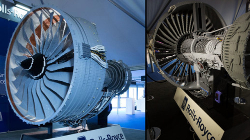 Rolls-Royce (Boeing) Engine made of LEGO at the Farnborough Airshow (UK) (via gizmodo.com)