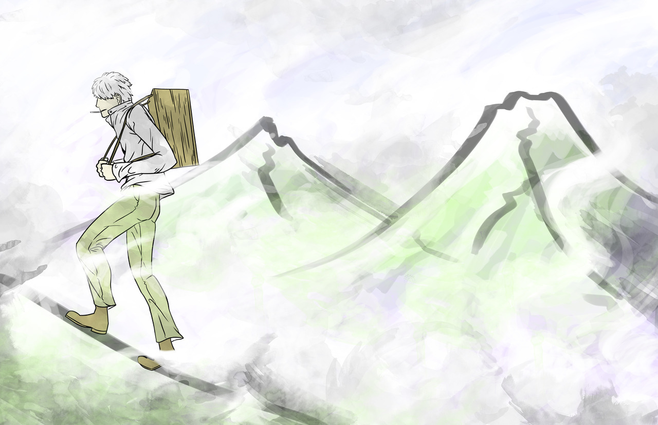 The finished Mushishi fanart. I took it in a different direction and tried out some new tricks. I'm not as confident in my digital painting skills as I would like to be, but still it was pretty fun. My Art