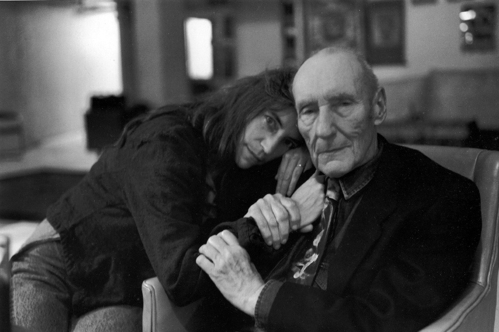 awesomepeoplehangingouttogether:  Patti Smith and William S. Burroughs