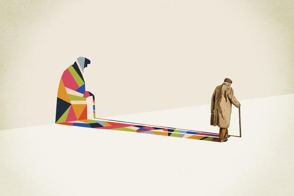 Walking Shadow SeriesA series of illustrations by designer and illustrator Jason Ratliff.