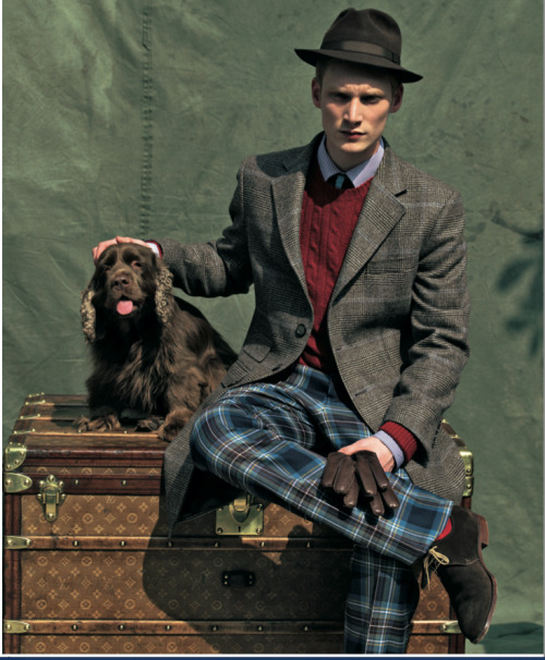 EXCELLENT STYLING IN ENGLISH MOOD. A TOTAL @HACKETTLONDON LOOK, PH BY GARDA TANG FOR STYLE MAGAZINE 2007