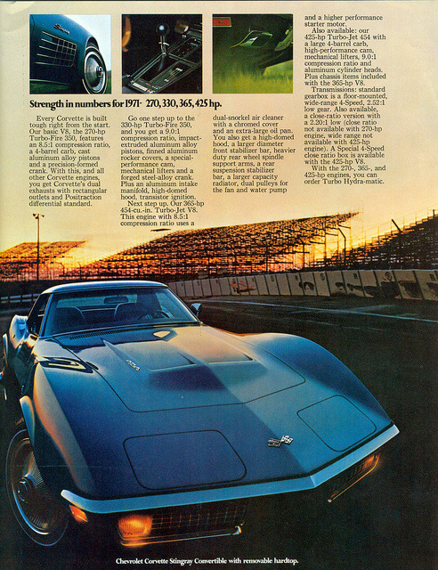1971 Chevrolet Corvette Stingray Convertible  by coconv on Flickr.1971 Chevrolet Corvette Stingray Convertible