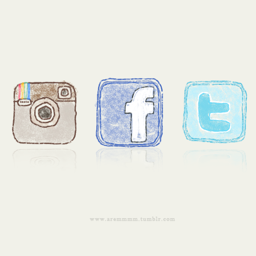aremmmm:  Instagram | Facebook | Twitter made these icons for my blog.. :) yey! hahaha..