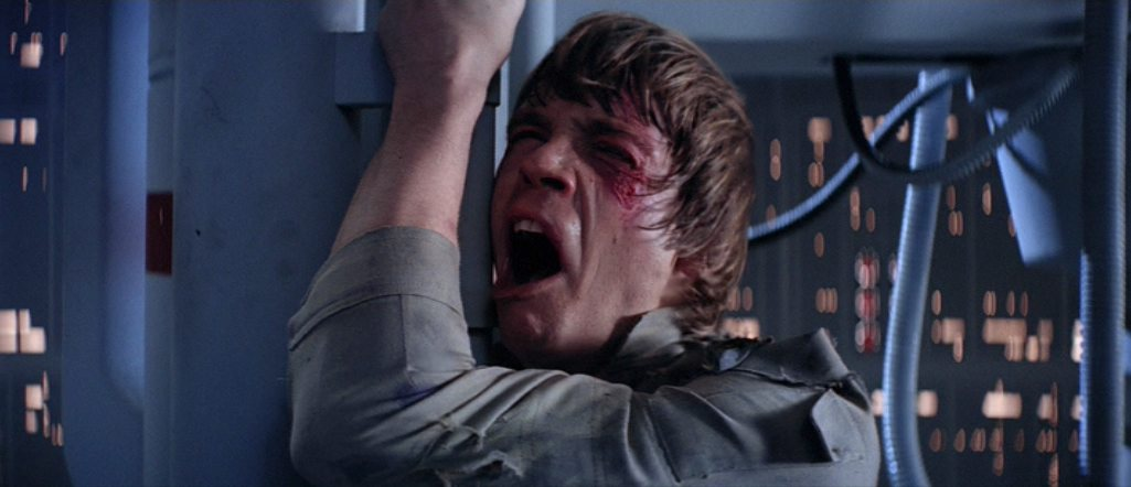 """NO! THAT'S NOT TRUE! THAT'S IMPOSSIBLE!"" Mark Hamill in THE EMPIRE STRIKES BACK (1980, dir. Irvin Kershner)"