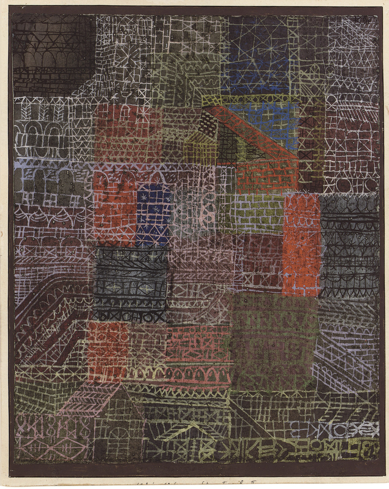 Paul Klee - 'Structual II' '1924