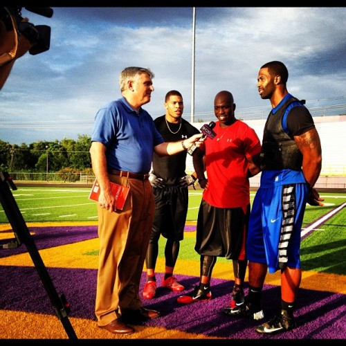 Watch Dawan Landry, Darius Reynaud, & LaRon Landry interview 2nite on WGNO channel 26 at 10pm (Taken with Instagram)