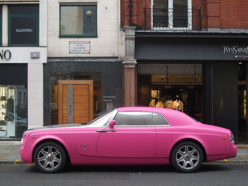 Rolls Royce Phantom Coupe by George Matthews on Flickr.matt pink Rolls-Royce Phantom Coupe